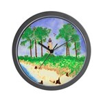 Madisonville Lighthouse Paint Wall Clock