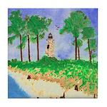 Madisonville Lighthouse Paint Tile Coaster