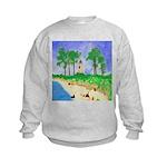 Madisonville Lighthouse Paint Kids Sweatshirt