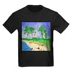 Madisonville Lighthouse Paint Kids Dark T-Shirt