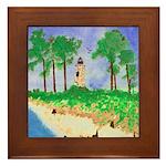 Madisonville Lighthouse Paint Framed Tile