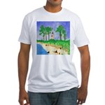 Madisonville Lighthouse Paint Fitted T-Shirt