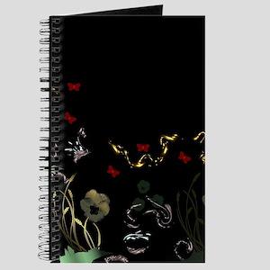 art asian flower in black Journal