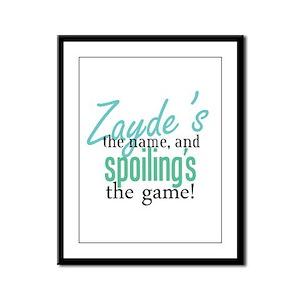 Zayde's the Name! Framed Panel Print