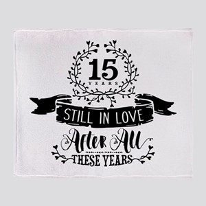 15th Anniversary Throw Blanket