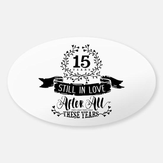 15th Anniversary Sticker (Oval)