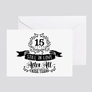 15th Anniversary Greeting Card
