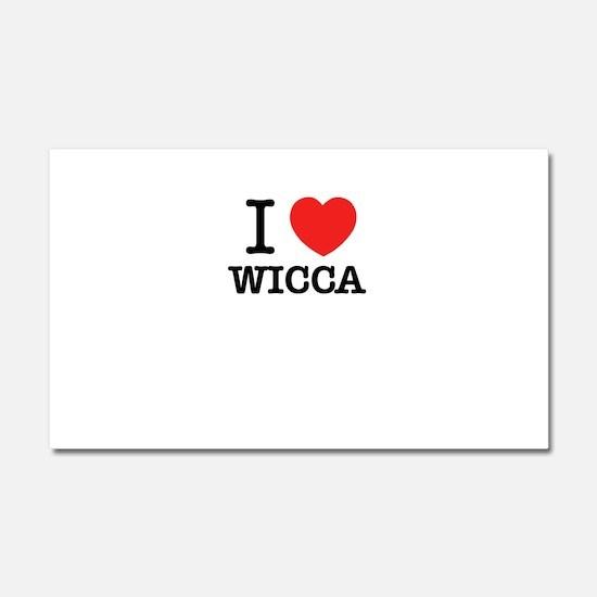 I Love WICCA Car Magnet 20 x 12