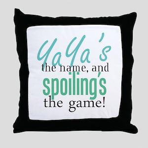 YaYa's the Name! Throw Pillow