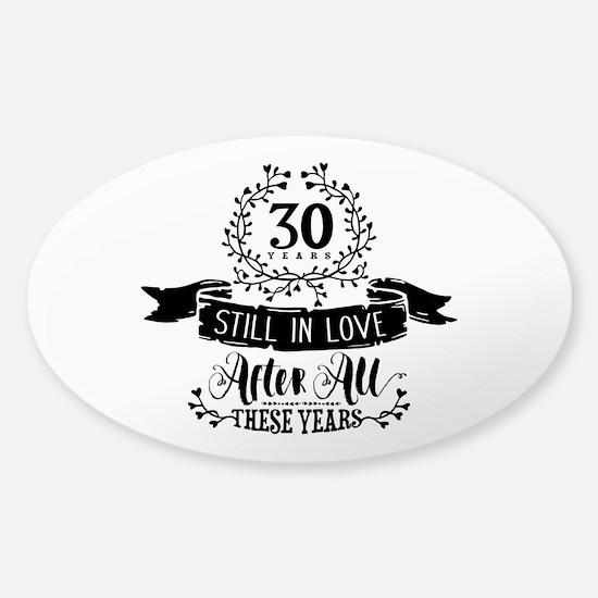 30th Anniversary Sticker (Oval)
