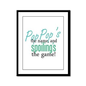 Pop Pop's the Name! Framed Panel Print