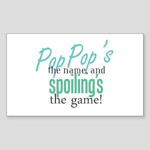 Pop Pop's the Name! Rectangle Sticker