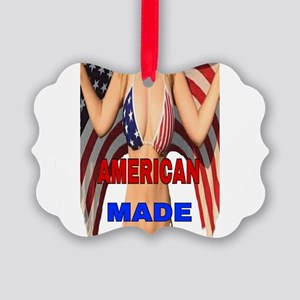 AMERICAN MADE Picture Ornament