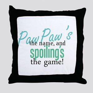 PawPaw's the Name! Throw Pillow