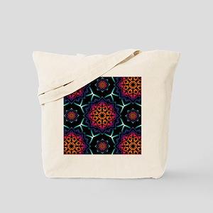 'Bohemian Illusion' Blue Purple Pink Oran Tote Bag