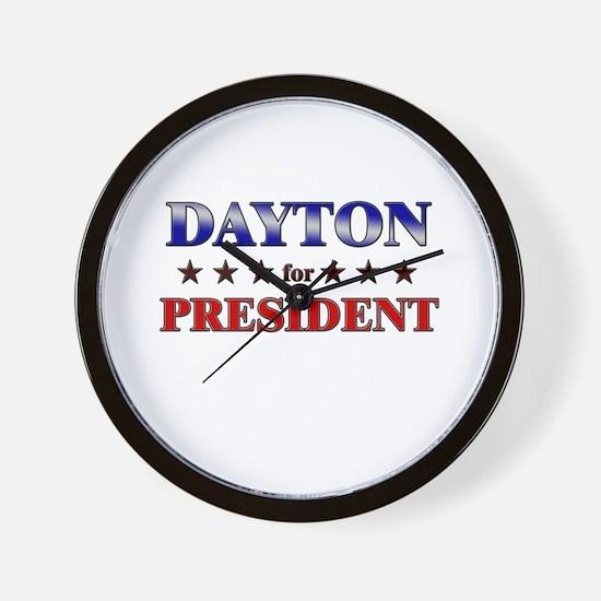 DAYTON for president Wall Clock