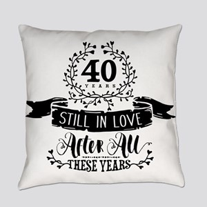 40th Anniversary Everyday Pillow