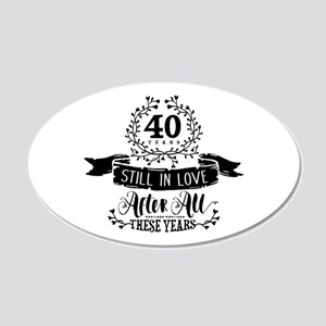 40th Anniversary 20x12 Oval Wall Decal