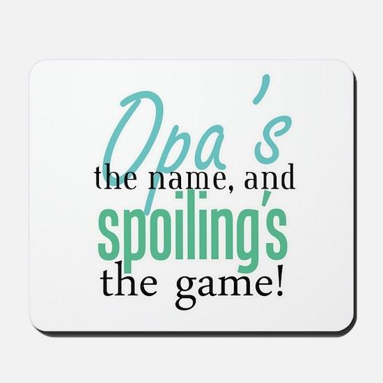 Opa's the Name! Mousepad