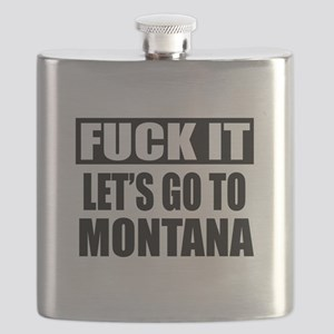 Let's Go To Montana Flask