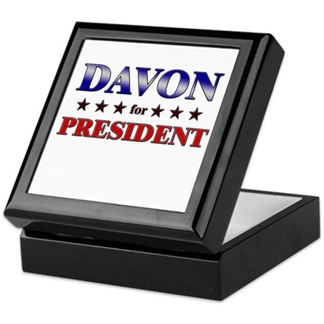 DAVON for president Keepsake Box