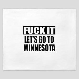 Let's Go To Minnesota King Duvet