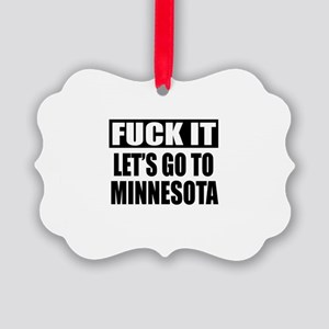 Let's Go To Minnesota Picture Ornament