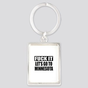 Let's Go To Minnesota Portrait Keychain