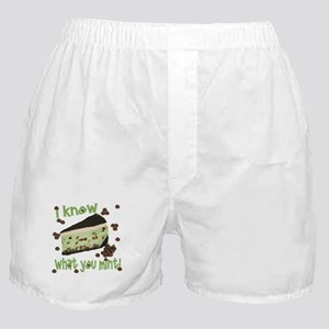 I Know What You Mint! Boxer Shorts