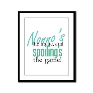 Nonno's the Name! Framed Panel Print