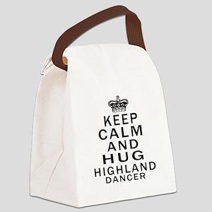 Keep calm and hug Highland dancer Canvas Lunch Bag