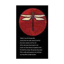 Dragonfly Moon Rectangle Sticker