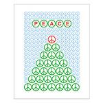 Peace Christmas Tree Small Poster