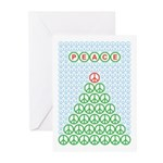 Peace Christmas Tree Greeting Cards (Pk of 20)