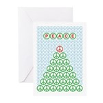 Peace Christmas Tree Greeting Cards (Pk of 10)