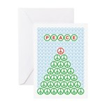 Peace Christmas Tree Greeting Card