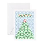 Peace Christmas Tree Greeting Card