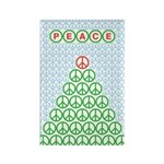 Peace Christmas Tree Rectangle Magnet (100 pack)
