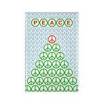 Peace Christmas Tree Rectangle Magnet