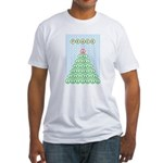 Peace Christmas Tree Fitted T-Shirt