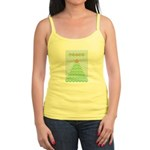 Peace Christmas Tree Jr. Spaghetti Tank