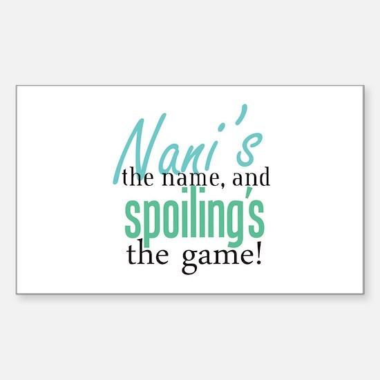 Nani's the Name! Rectangle Decal
