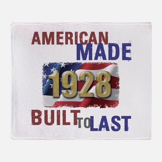 1928 American Made Throw Blanket