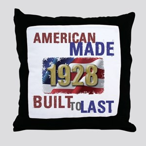 1928 American Made Throw Pillow