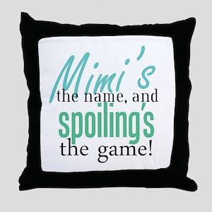 Mimi's the Name! Throw Pillow