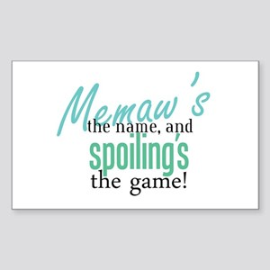 Memaw's the Name! Rectangle Sticker