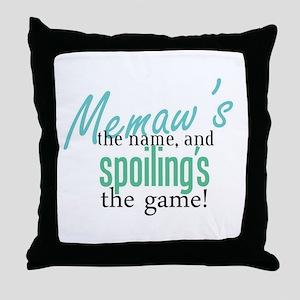 Memaw's the Name! Throw Pillow