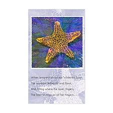 Starfish Rectangle Sticker