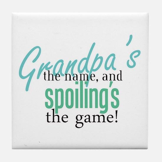 Grandpa's the Name! Tile Coaster