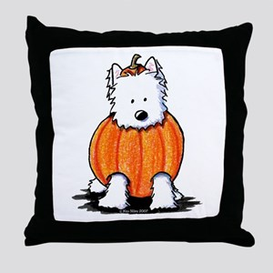 Punkin' Westie Throw Pillow